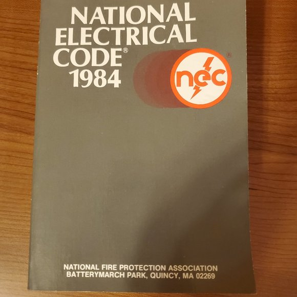 National Electrical Code Book 1984 Paperback